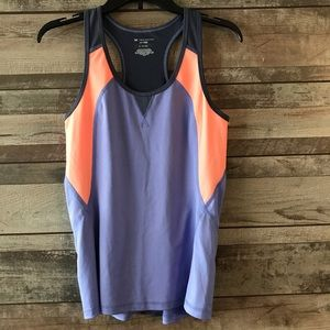 Tek Gear tank top Dry tek purple, orange Med.